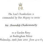 Buckinham palace invitation